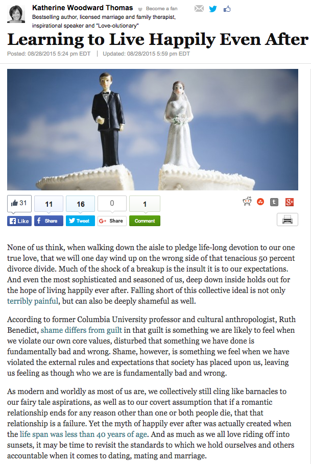 conscious uncoupling on huffington post