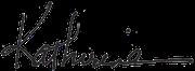 Katherine Woodward Thomas signature
